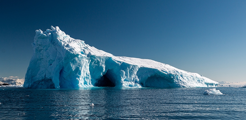 An iceberg in Antarctica's Mikkelson Harbor.
