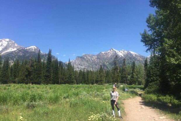 Hiking in Wyoming. Photo courtesy Caroline Hansen