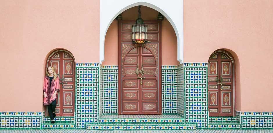 Melissa Biggs Bradley on an Insider Journey in Marrakech. Photo by Flytographer