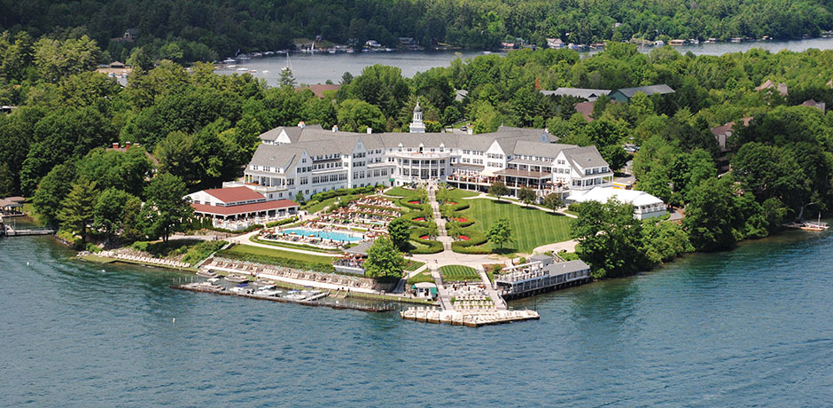 The Sagamore overlooking Lake George. Courtesy the Sagamore