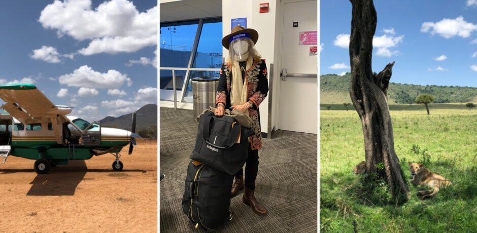 Melissa Biggs Bradley scouting in Kenya this fall.