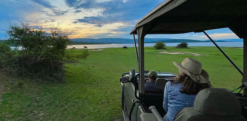 At Magashi Camp in Akagera National Park, you can experience game drives and safari cruises.