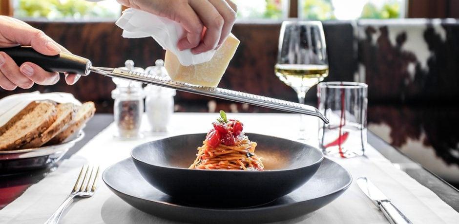Pasta at Rosa Alpina, an Aman Partner Hotel. Courtesy Aman Resorts