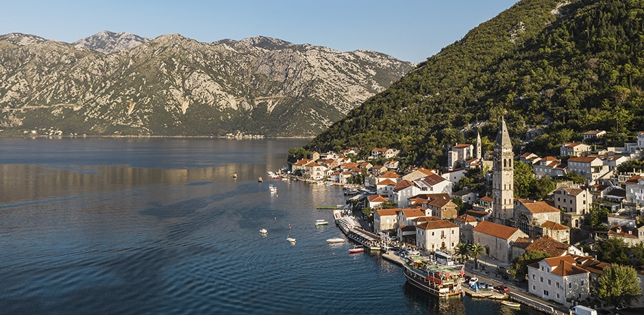 The fjord like coast of Montenegro. Courtesy One&Only Resorts