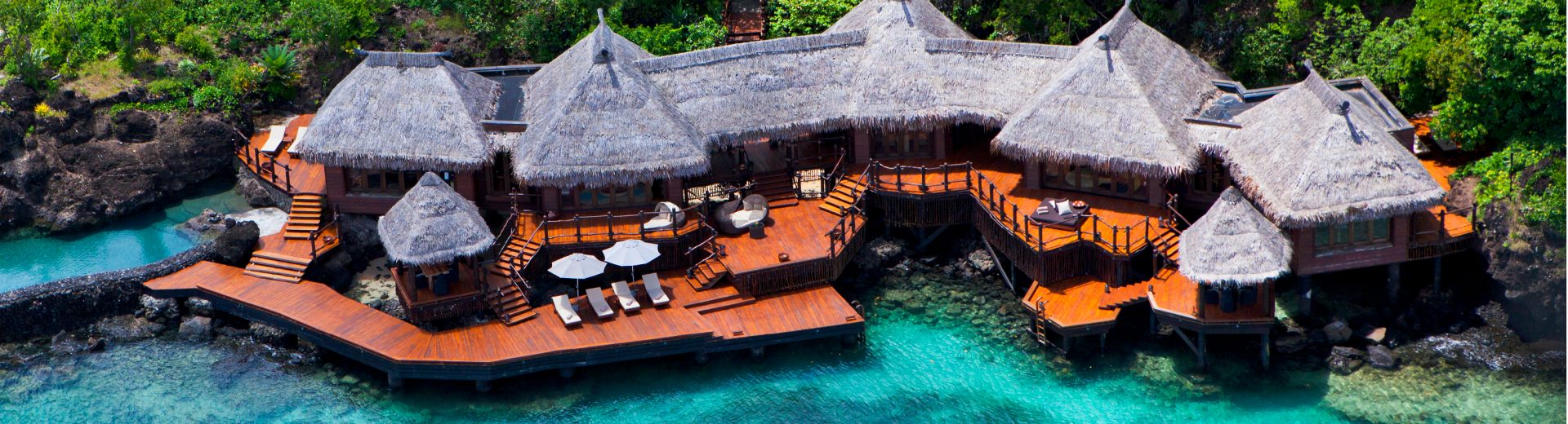 Laucala Island most indulgent hotels aerial view