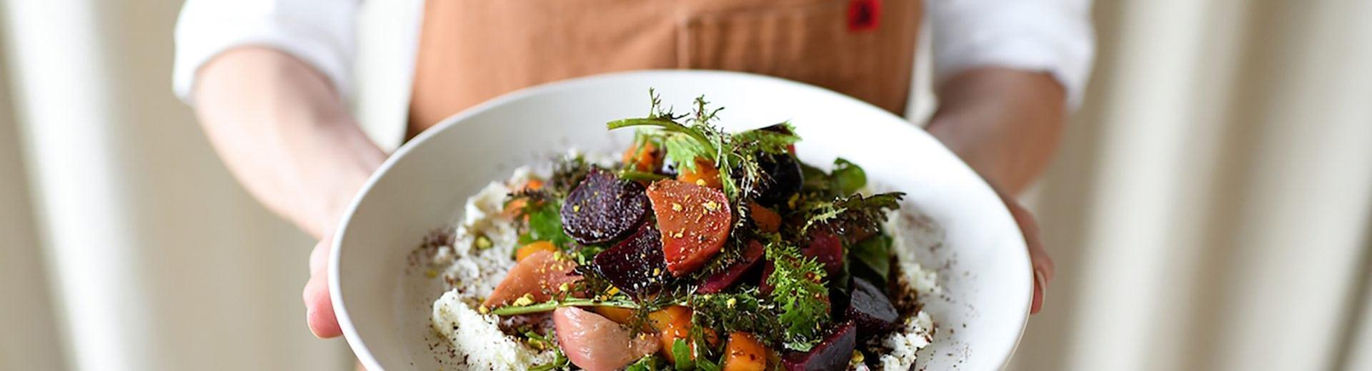 blackberry mountain food and wine hotel beet salad