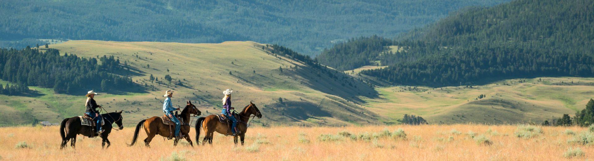 horseback riding at the ranch at rock creek montana