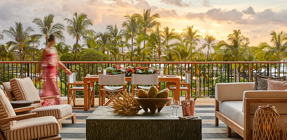 A suite terrace. Courtesy Mauna Lani, Auberge Resorts Collection