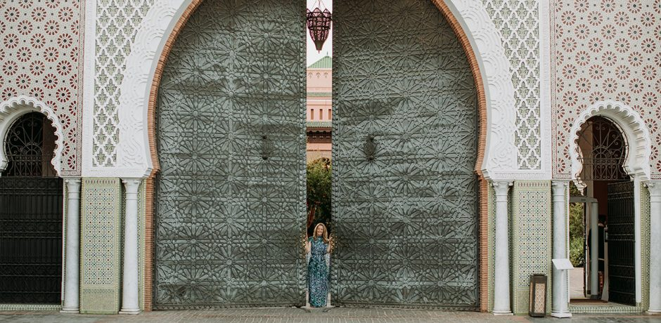 Melissa Biggs Bradley in Marrakech for the first time since Covid. Photo by Pink Palm Studio
