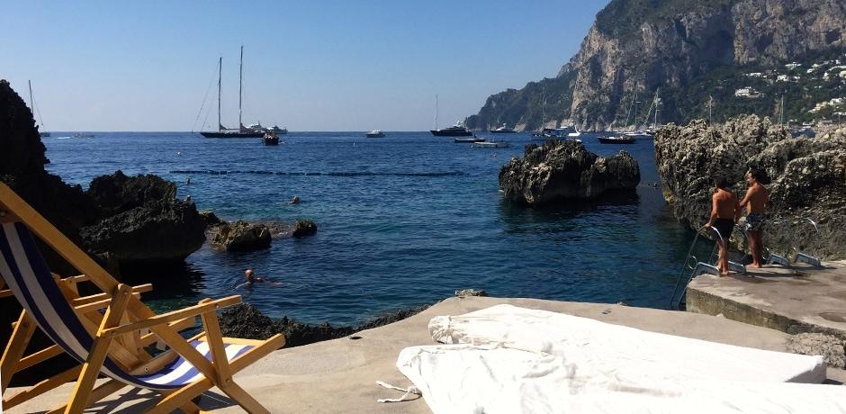 Capri's Fontelina Beach Club. Photo by Missy Weil, courtesy Indagare