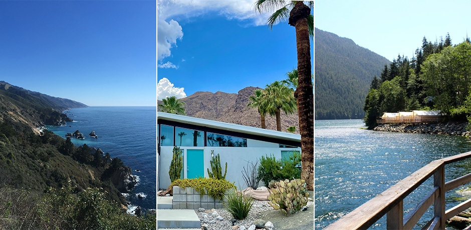 Big Sur, Palm Springs and Clayoquot. Courtesy Indagare