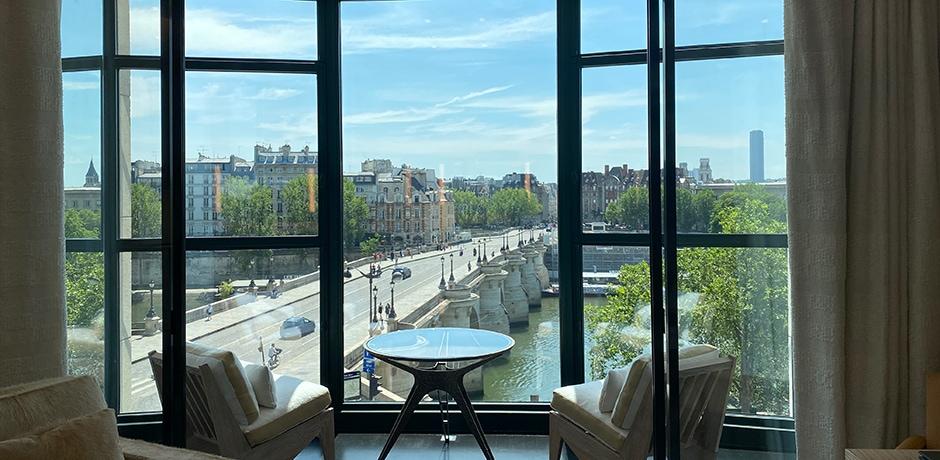 Looking towards the Île de la Cité from Cheval Blanc Paris. Photo by Melissa Biggs Bradley, courtesy Indagare