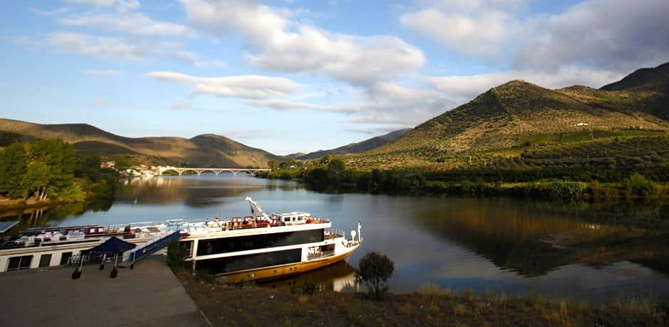 AmaVida, the best boat on the Douro, awaits passengers for a weeklong river cruise. Photo courtesy of Miguel Ribeiro Fernandes/Alexandre Vaz.