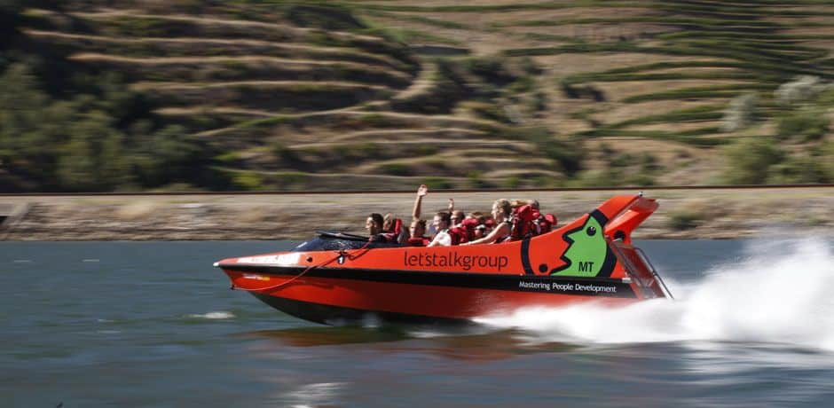 The fastest Douro excursion option of all -- jetboat. Photo courtesy of Miguel Ribeiro Fernandes/Alexandre Vaz.