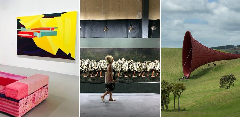 From left: Art Basel Miami, Havana Biennial, Gibbs Farm