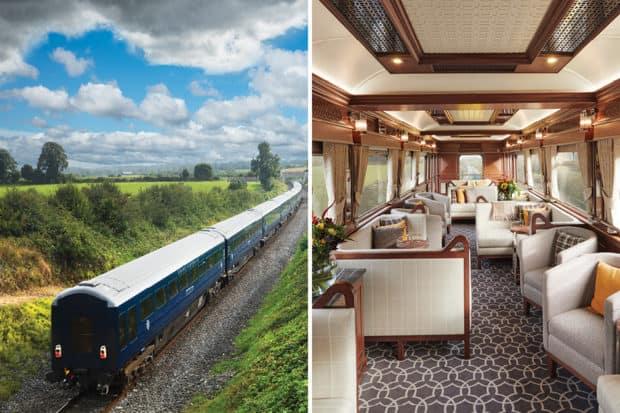 The Belmond Grand Hibernian train; the observation car