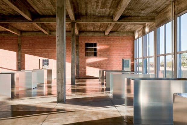 The Chinati Foundation interior in Marfa Texas