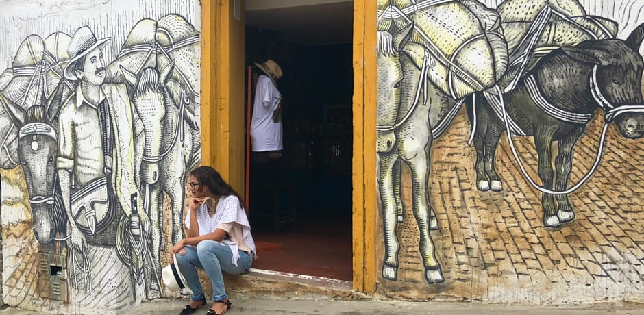 Vibrant artistic expression can be seen in the villages of the coffee region.