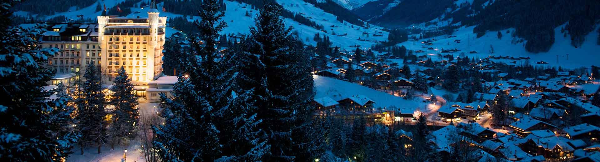 gstaad palace switzerland winter snow