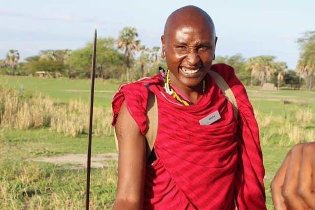A Maasai guide