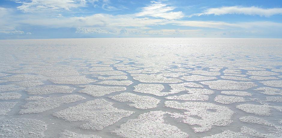 Salar de Uyuni, the largest salt flats in the world (courtesy Gaston Ugalde)