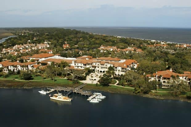 Aerial view of Sea Island