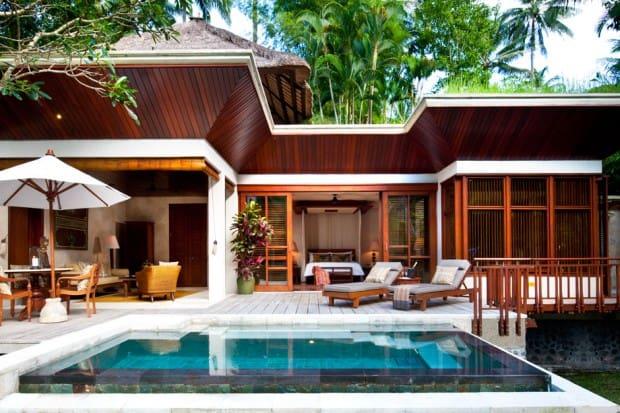 Pool Lounge at Four Seasons Resort Bali at Sayan, Bali, Indonesia