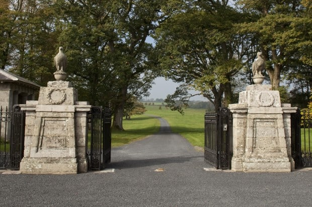 The gates to Ballyfin. Courtesy Ballyfin.