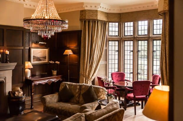 A living room at Lough Eske Castle