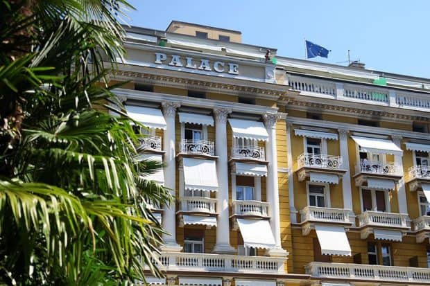 The exterior of Hotel Palace Merano