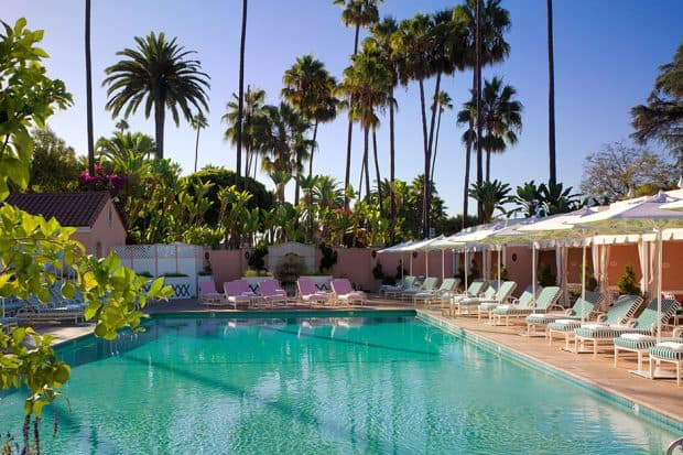 The pool at The Beverly Hills Hotel. Courtesy Beverly Hills Hotel.