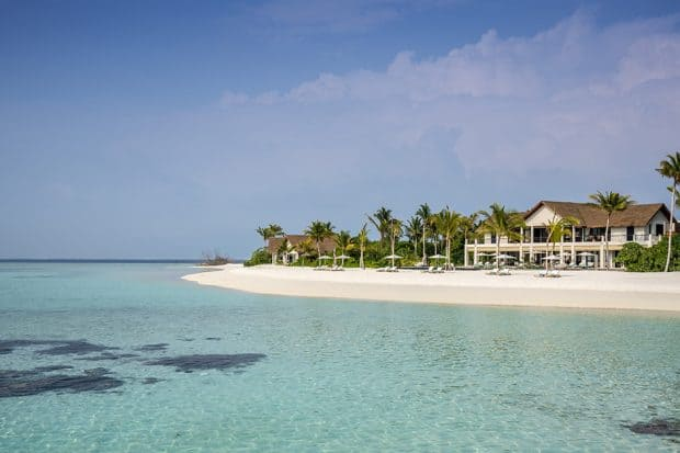 Beach at Four Seasons Private Island in the Maldives