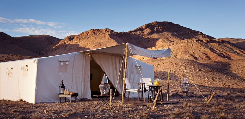 Camping at Dar Ahlam Dune's Camp, Morocco