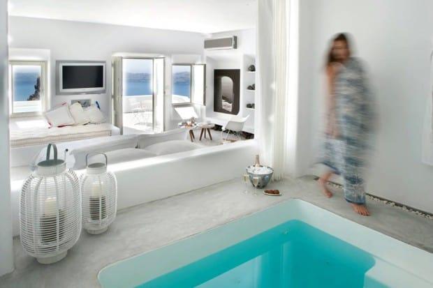 Suite at Grace Santorini hotel on Santorini Greece
