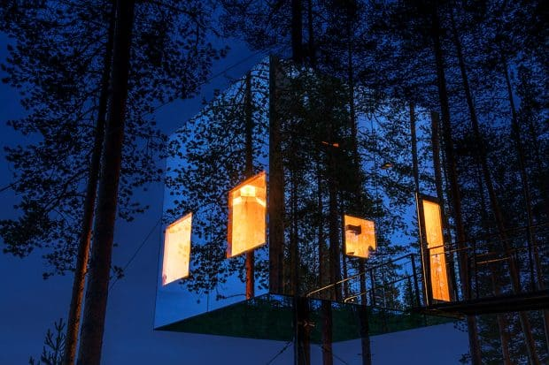 The Mirrorcube at Treehotel, Courtesy Treehotel, Sweden