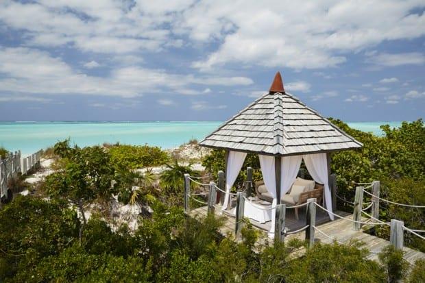 A sea-view gazebo. Courtesy COMO Parrot Cay