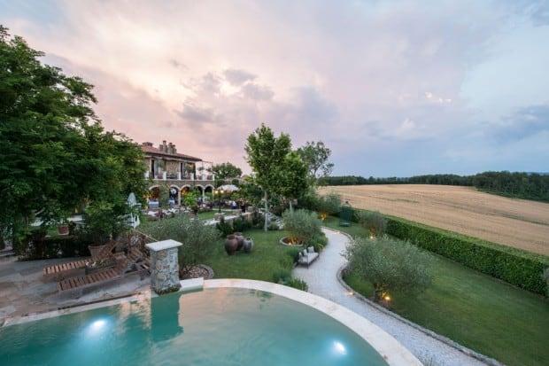 The grounds and villa; Courtesy Meo Modo at Borgo Santo Pietro