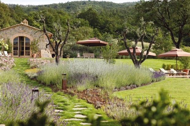 Garden at Rosewood Castiglion Del Bosco, Tuscany, Italy