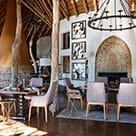 The dining room at Singita Pamushana in Zimbabwe