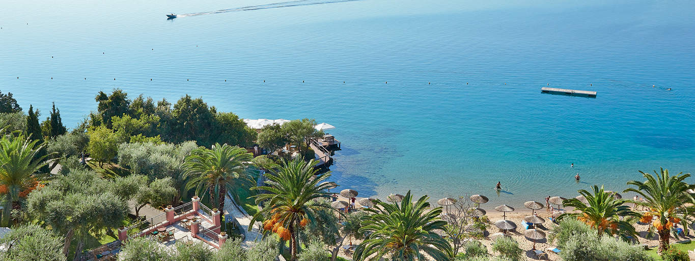 The view from the Corfu Imperial hotel in Corfu Greece