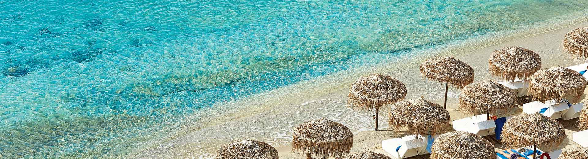 Psaruo Beach in Mykonos, Greece