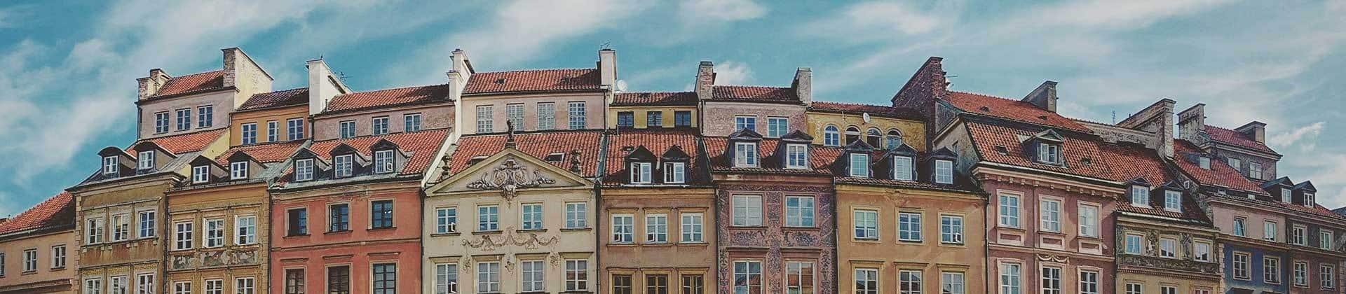 Buildings in Warsaw's Old Town