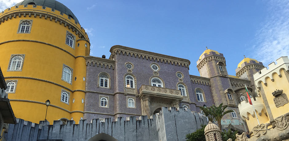 A former monastery and passion-project of King Ferdinad II, Palacio Pena is one of the most popular sites in Sintra due to its gorgeous Moorish architecture.