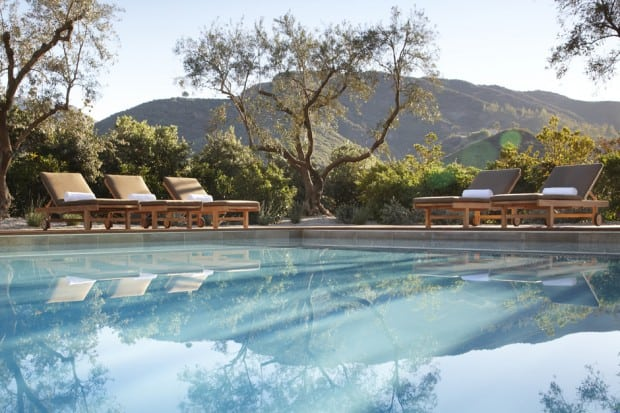 Poolside. Courtesy The Ranch at Live Oak Malibu
