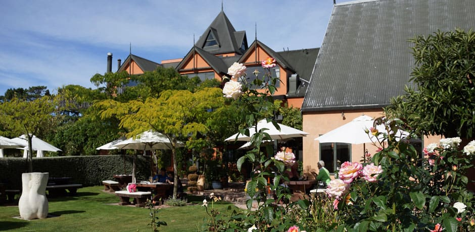 A great way to break up a road trip is with lunch in a scenic location. Pegasus Winery, en route from Christchurch to Kaikoura, is one of the loveliest spots for a leisurely meal. (All photos courtesy Julian Bassermann)