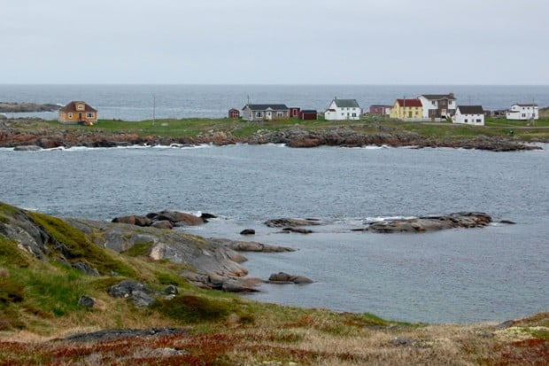 Perfectly square Saltbox houses are the typical style of homes throughout Newfoundland.