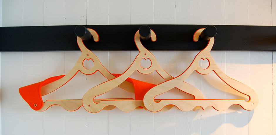 All details in the Fogo Island Inn are beautifully crafted and well-thought-out, like these gorgeous hangers.