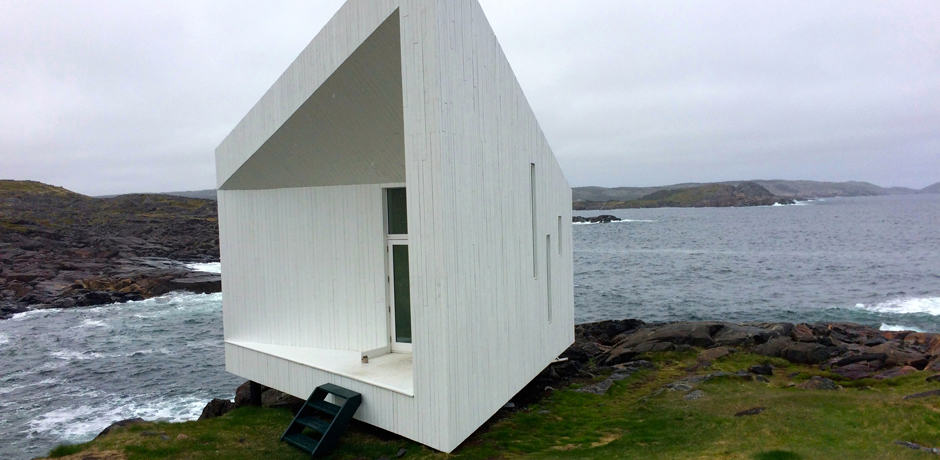 Squish Studio, one of the four art studios built and maintained by the Fogo Island Inn's artist in residency programs.
