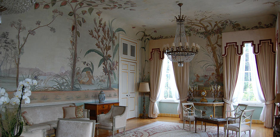 A sitting room in Tivoli Palacio de Seteais, an 18th-century palace turned hotel in Sintra, Portugal