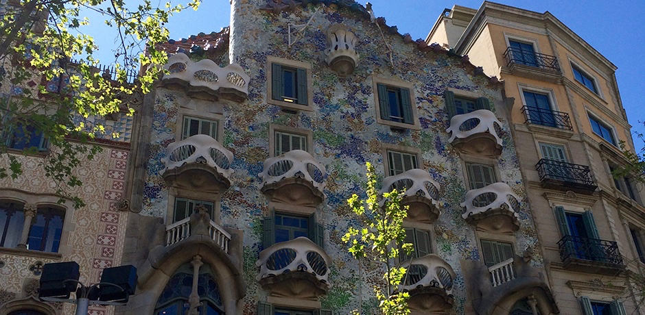 Gaudi's Modernism can be seen all over the city